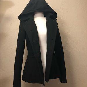 American Rag Hooded Black Coat